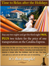 Catalina Island Hotels - Advertisement Email