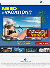 Players Vacation Club - Advertisement Email